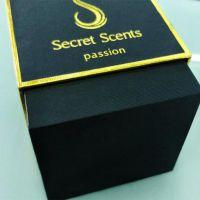 珠海金湾化妆品包装设计|天地盖化妆品盒|黑色烫金小方盒