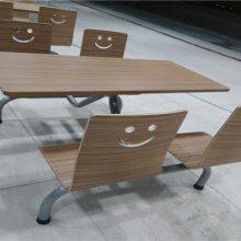深圳学校食堂快餐桌椅生产厂家特价直销