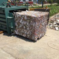 小型卧式80型废纸打包机 100吨立式塑料瓶易拉罐压缩打包 山东思路维修液压机械