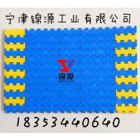 5935平板网带@节距19.05平格网链食品及输送带POM平板长孔塑料链板