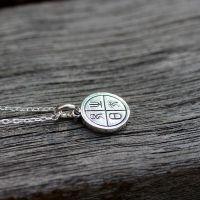 《太阳之光》中国古老的太阳 纯银文艺项链锁骨链 圆牌 喜竹原创