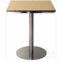 【麦德嘉CT-S01】简约现代304不锈钢封边台面方型定做餐厅桌子 西餐店港式茶餐厅餐桌