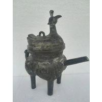 西周青铜器凤盖盉鬲盉青铜盉工艺品古玩收藏品