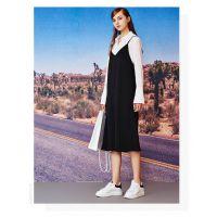 杭州知名品牌洛可可18年新款春装连衣裙 品牌女装折扣分份批发