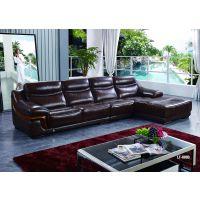 供应广州家具盈冠家具简约系列客厅家具组合真皮沙发