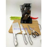 阳江刀具套装亚克力五件套 不锈钢厨房刀具组合