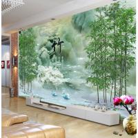 竹木阁5D3D立体浮雕竹木纤维快装背景墙板现代简约大型背景墙壁客厅