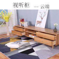 北欧现代实木家具简约电视柜白橡木视听柜小户型地柜