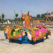 厂家定做电动轨道戏水玩具,商场游乐场六臂豪华电动水陆战车设备