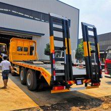 江淮三桥挖机平板运输车包上户多少钱后八轮挖机拖车现车销售