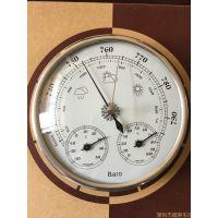 130mm大气压力计温度计湿度计气象站THB9232晴雨表膜金属盒气压表