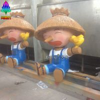 广州尚雕坊新品供应DCR款园林广场农场景观小品稻草人玻璃钢雕塑 树脂工艺品