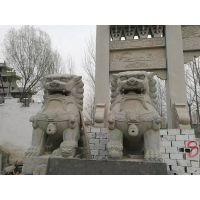 泰昱供应 总高3米多 花岗岩 门口摆放的大狮子