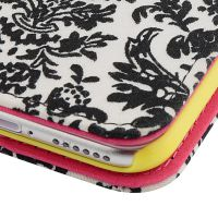 广州手机皮套OEM来样定制苹果iPhone 8翻盖式棉布印刷手机壳