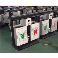 小区户外垃圾桶 不锈钢分类双桶 室外环卫不锈钢垃圾箱定制