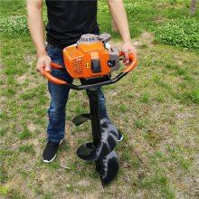 新款二冲程土地打眼机汽油手提挖坑机螺旋式果园栽种机