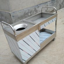 双丰不锈钢收碗车餐厅用品/餐饮用品碗筷收集车带盆车