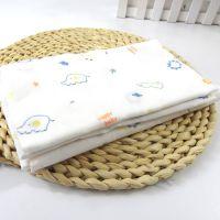 桥一芳婴儿浴巾纱布,纯色新生儿抱被定制批发