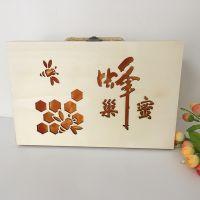 高档可定制手提式木制巢蜜礼品盒 木质蜂蜜包装木盒 蜂蜜巢蜜礼盒