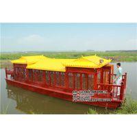 云南广西哪里有电动画舫船 仿古木船 水库湖泊休闲船 餐饮船制造厂家