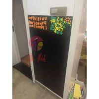 揭阳小黑板拼音田字格O惠州挂式磁性教学板O双面木框黑板