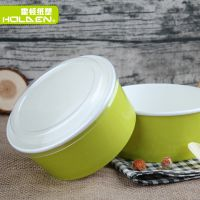 一次性盘沙拉纸碗盖饭碗水果蔬菜盒沙拉盖饭打包盒可带盖炒饭可印刷厂家定制