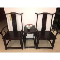 河南南阳批发红木家具价格赞比亚血檀非洲小叶紫檀檀雕官帽椅3件