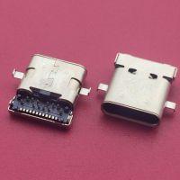 沉板2.0mm双包壳TYPE-C母座/双壳四脚插板/DIP插板+SMT贴片/防水