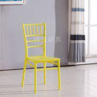 塑料金色竹节椅婚礼婚庆餐厅椅亚克力透明竹节椅