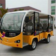 利凯士得11座敞开式电动观光车 江南大学校园电瓶公交车