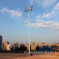 海南户外11人制足球场照明 4根15米足球场灯杆造价多少 厂家直销
