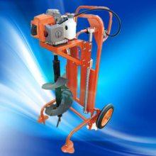 双人操作大马力钻孔机 启航新款手推框架打坑机 光伏发电刨窝机价格