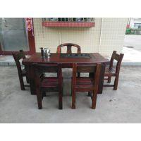 厂家促销老船木家具茶桌茶台功夫茶桌椅组合价格