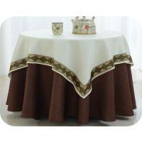 君康批发喜宴红色圆台桌布 饭店换洗桌布