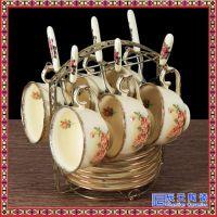 高档骨瓷咖啡杯套装欧式小奢华简约英式下午茶杯红茶杯花茶咖啡具