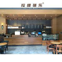 西安咖啡厅吧台星巴克实木吧台设计定做