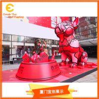 玻璃钢狗雕塑 商场美陈开业装饰 大型雕塑 道具制作厂家