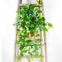 东莞浩晟仿真垂直大壁挂自然垂体仿真植物绿萝壁挂植物藤条可批发
