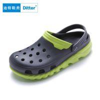 迪特洞洞鞋 夏季女士凉鞋简约包头EVA学生沙滩鞋舒适厚底防滑情侣拖鞋批发