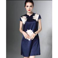 杭州品牌诗菲迪18夏款时尚真丝女装 夏装折扣尾货一手尾货