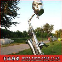 定制欧式抽象吹奏萨克斯摆件音乐公园雕塑 萨克斯人物雕塑家