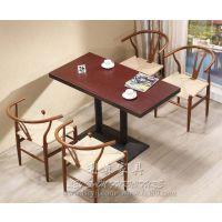 方形大理石餐桌 咖啡西餐厅桌子 新古典大理石桌子 可定制