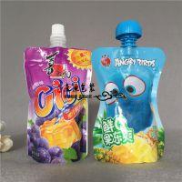 厂家专业定做牛奶吸嘴袋 350ML蜂蜜/酸奶液体袋 铝箔自立吸嘴袋