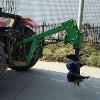 电线杆挖坑机 富兴手推式汽油立柱钻眼机 四轮挖坑机报价