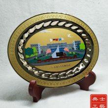 广州市厂家设计制作企业赠送给客户的纪念品,企业新大楼落成纪念品,集团特色纪念摆件,纯铜纪念圆盘批发