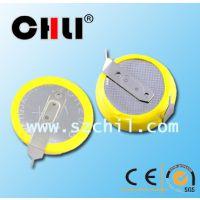 供应CR2016 纽扣电池 3V卧式焊脚加工