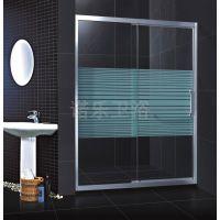 淋浴房玻璃隔断-浴室移门-卫生间移门铝合金一梗一活趟门丝印