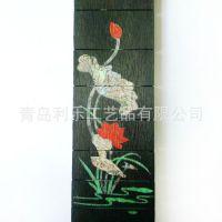 定做专业木质工艺品配件指板镶嵌  精美图案  可来图定做