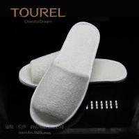 途悦酒店用品一次性白色毛巾布半包拖鞋星级酒店定制款