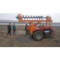 钻孔深0米6米 立杆挖坑一体机 拖拉机挖坑机 配备动力:50-90型四轮拖拉机 钻孔深度:0米-